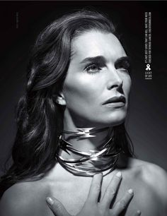 Brooke Shields in dramatic ad for the Check Your Neck for Thyroid Cancer campaign - and remember to have your thyroid checked for general health problems too!