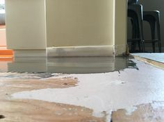 Don't forget to prime plywood with Ardex primer Kitchen Flooring, Flooring, Tile Floor, Floor Remodel, Remodel, Plywood