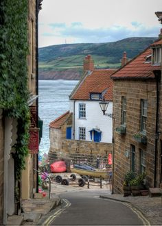 Robin Hood's Bay North Yorkshire, England. Let's not forget the gentle love that causes the heart to swell between Robin and Maid Marian.