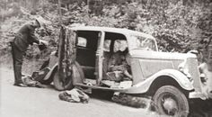 bonnie and clyde | Scene: The car where Bonnie and Clyde were found dead in May 1934 ...
