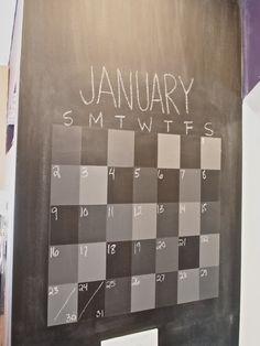 How To Make A Magnetic Chalkboard Calendar   Chalkboard Calendar, Magnetic  Chalkboard And Chalkboards