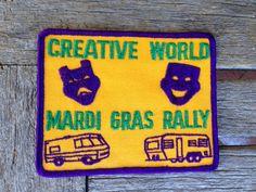 SALE! Creative World Mardi Gras Rally Vintage Travel Patch