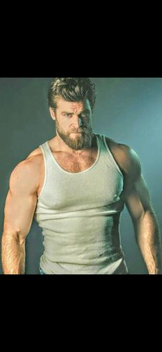 the most powerful muscle building formula for maximum size and strength Hairy Men, Bearded Men, Hot Men, Hot Guys Tattoos, Beefy Men, Awesome Beards, Hot Hunks, Muscular Men, Moustache
