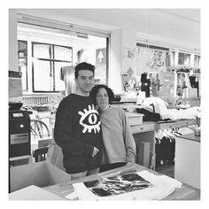 The beautiful designers of #UniverseonaT-shirt , Efrat & Joris. Sweater from the brand #goodpeople  #organiccotton  #greatdesigner  #greatclothing #universeonatshirt