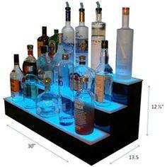 L.E.D. Lighted Liquor Display - Bar Shelves - Back Bar Displays - Customized Designs Online Store