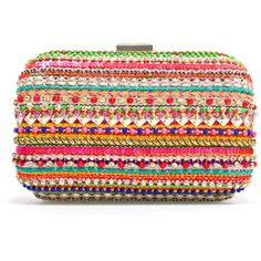 Zara Embroidered Evening Bag ($50) ❤ liked on Polyvore featuring bags, handbags, clutches, zara, bolsos, bolsas, multicolour, multi colored clutches, zara purse and zara clutches