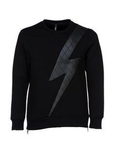 NEIL BARRETT Neil Barrett Quilted Thunder Sweatshirt. #neilbarrett #cloth #fleeces-tracksuits