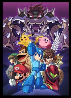 Mega Man in Smash Bros!!!