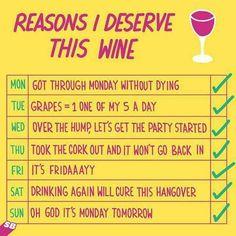 Why I deserve wine