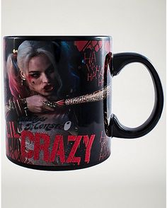 CERAMIC COFFEE MUG //CUP SUICIDE SQUAD HARLEY QUINN - WE/'RE BAD GUYS - WINK