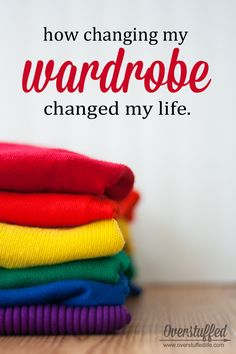Do you ever feel like your clothes aren't working for you? Maybe because they aren't. Learn how to create a wardrobe based on your unique energy type and stop wasting money on clothing that doesn't work for you! #overstuffedlife