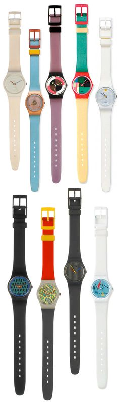 Eighties Swatch Watches- Still got the purple one!