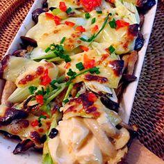 豆腐が余った時のお助けメニュー 熱々が美味しい♨ - 98件のもぐもぐ - Tofu&mushroom gratin of Miso&mayonnaise豆腐としめじの味噌マヨグラタン by Ami