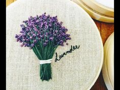 Mini Lavender Embroidery: How to Embroider Lavender Garden Embroidery, Floral Embroidery Patterns, Baby Embroidery, Embroidery Flowers Pattern, Simple Embroidery, Hand Embroidery Designs, Doily Patterns, Paper Embroidery Tutorial, Hand Embroidery Projects