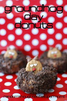 *Random Thoughts of a SUPERMOM!*: Groundhog Day Donuts