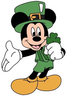 Diamond Painting Mickey Four Leaf Clover Kit Saint Patricks Day Art, Happy St Patricks Day, Walt Disney, Disney Art, Disney Cartoon Characters, Disney Cartoons, Funny Cartoons, Mickey Mouse And Friends, Mickey Minnie Mouse