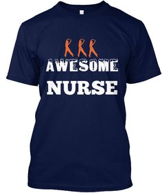 Awesome  Nurse Navy T-Shirt Front