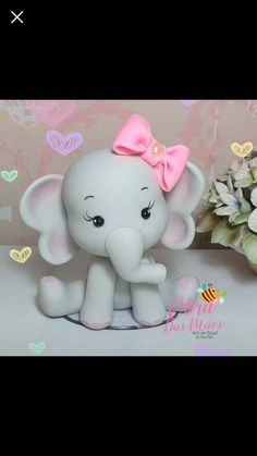 1 million+ Stunning Free Images to Use Anywhere Baby Elephant Cake, Fondant Elephant, Elephant Cake Toppers, Elephant Baby Showers, Polymer Clay Christmas, Cute Polymer Clay, Cute Clay, Polymer Clay Projects, Bolo Fondant
