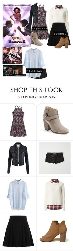"""""""Me in """"Weird science"""""""" by sunshineadrenaline ❤ liked on Polyvore featuring Hollister Co., rag & bone, LE3NO, Abercrombie & Fitch, WithChic, Dorothy Perkins and River Island"""