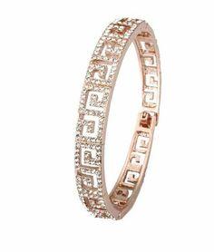 Aaishwarya Exotic Rosegold Plated Crystal Bracelet #bracelet #crystalbracelet #rosegoldplatedbracelet #braceletsforwomen #fashionjewelry