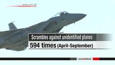 Força Aérea de Auto Defesa do Japão bate recorde de interceptação de aviões não identificados. O Ministério da Defesa do Japão diz que caças da Força...
