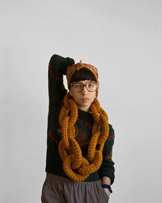The Yokoo Dookie Chain Scarf by Yokoo | FOLLOW http://www.pinterest.com/happygolicky/etsy-group-board-handmade-favorites-gallery-of-art/ & ASK to join group board now.