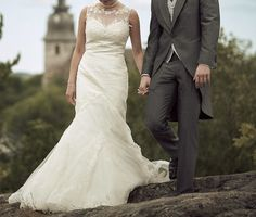 merenneitomallinen, pitsinen hääpuku wedding dress