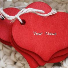 Red Heart Image With Name