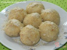 Apple dumplings without eggs (from only 2 ingredients), - American Sweet Meals Slovak Recipes, Czech Recipes, My Recipes, Sweet Recipes, Cooking Recipes, Ethnic Recipes, Recipies, Sugar Free Sweets, Apple Dumplings
