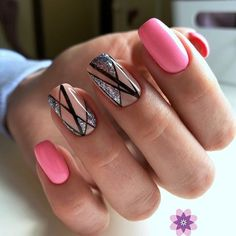 Gel Nail trends These days, a flowery manicure may be a should for several women. Of course, the wonders that trendy gel manicure suggests area Square Nail Designs, Best Nail Art Designs, Short Nail Designs, Pink Nails, My Nails, Nail Trends 2018, Design Ongles Courts, Summer Nails 2018, Nail Art Design Gallery
