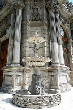 Dolmabahçe Palace Clock Tower, Istanbul, Turkey - Dolmabahçe Palace (Turkish: Dolmabahçe Sarayı) located in the Beşiktaş district of Istanbul, Turkey, on the European coastline of the Bosphorus strait, served as the main administrative center of the Ottoman Empire from 1856 to 1922, apart from a 22-year interval (1887–1909) in which Yıldız Palace was used.