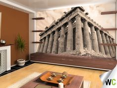 Wall mural of the Acropolis in Greece, makes for a statement on your feature wall!