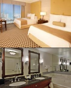 Palace Tower Deluxe 2 Queen Room @  #CaesarsPalace #LasVegas #hotel #casino #vacation #resort #slots #craps #roulette #poker #blackjack #cruise #cuisine #gambling #table #game #comps #travel #hotel #vacation #win #reward #architecture #highroller #baccarat  #fun #relax #luxury #suite #spa #style