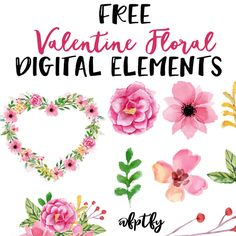 Free Valentine Floral Digital Elements   A girl can never have too many flowers.. and that doubles in truth for a female digital designer/crafter! These gorgeous floral digital elements are yours for the taking  and available CU use! To download click the following! 1       2        3       4...Read More »