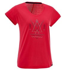 Check out our New Product  womens arpenaz 100 short sleeved hiking t shirt pink COD Made for occasional walkers.TShirt made from a mix of cotton or modal providing a soft feel and helping to wick moisture away from your skin.  ₹574