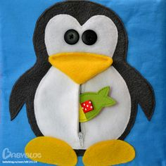 Feed the penguin. Zip on his tummy