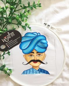 Dress Painting, Fabric Painting, Fabric Art, Diy Painting, Mural Painting, Saree Painting Designs, Fabric Paint Designs, Rajasthani Art, Buddha Painting
