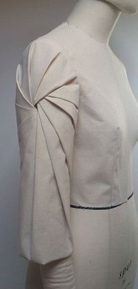 Innovative Pattern Cutting -  spiral pleated sleeve detail; fabric manipulation; draping; creative sewing // Shingo Sato