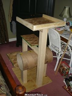 Cat tree.  I need to make one for my big fat cat!! The one we have is a little to small for him.