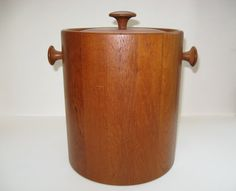 Digsmed Denmark Large Staved Teak Wood Ice Bucket  by ModandMore