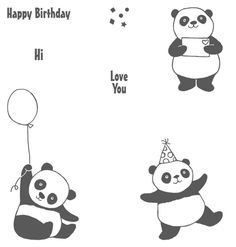 Panda Transparent Clear Silicone Stamp/Seal for DIY scrapbooking/photo album Decorative clear stamp sheets Scrapbooking Photo, Diy Scrapbook, Stampin Up, Box Cards Tutorial, Panda Birthday, Happy Birthday, Panda Party, Happy Wishes, Cute Panda