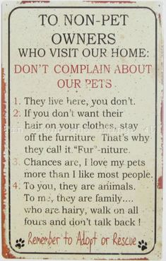 Non-Pet-Owner-Rules-TIN-SIGN-dog-cat-lover-gift-fur-funny-metal-wall-decor-OHW