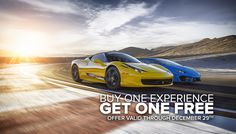 Book & use your SPEEDVEGAS driving experience before December 29th and get 2nd single car experience for free! https://speedvegas.com/en/offers/buy-one-get-one-free/info