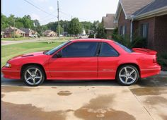 First car red Chevy Lumina z34. Looked just like this..