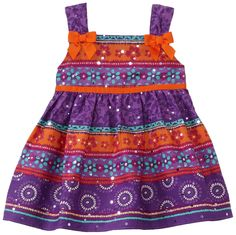 Youngland Baby-girls Infant Woven Trans Dot Sundress