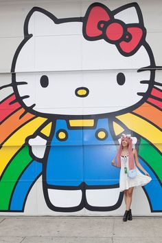 On the grounds of Hello Kitty Con in Los Angeles. [Photo by Katie Jones]