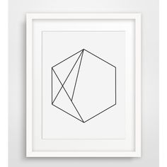 Hexagon Art, Minimalist Geometric Print, Minimalist Wall Art, Hexagon... (33 DKK) ❤ liked on Polyvore featuring home, home decor, wall art, outdoor wall art, printable wall art, black & white wall art, geometric wall art and outside home decor