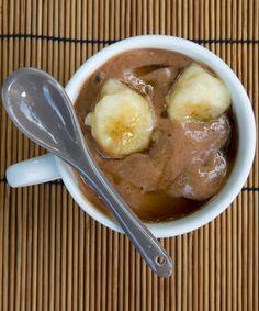 Gelato di banana caramellata, al cacao e sciroppo d'acero