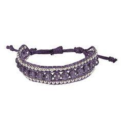 John Lewis Women Beaded Friendship Bracelet, Purple £15 - easy DIY following same pattern as other beaded bracelets.