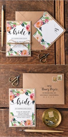 21 New ideas vintage bridal shower invitations guest books Rustic Bridal Shower Invitations, Bridal Shower Rustic, Fun Wedding Invitations, Vintage Wedding Invitations, Wedding Stationery, Invites, Invitation Kits, Floral Invitation, Invitations Online